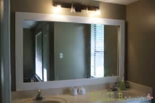 glass mirror for bathroom framing a plate glass mirror killer b designs