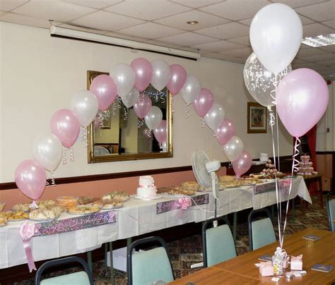 Table Set Decoration 15 Bridal Shower Birthday Baby Shower christening balloons boy or arch 10 table
