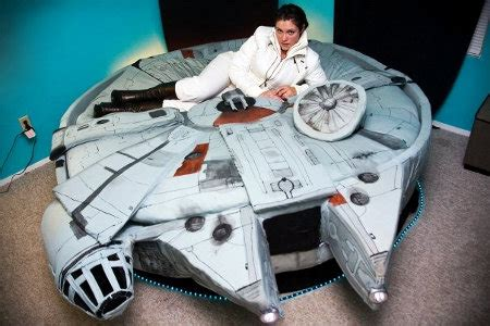 millenium falcon bed from the makers of the hamburger bed comes a millennium