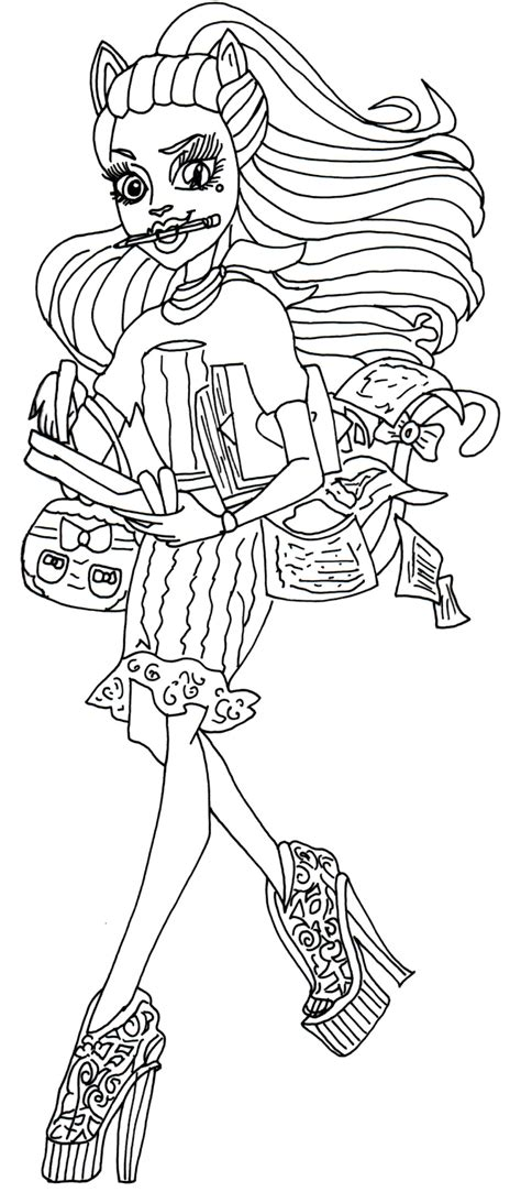 monster high coloring pages catrine demew catty noir coloring pages az coloring pages