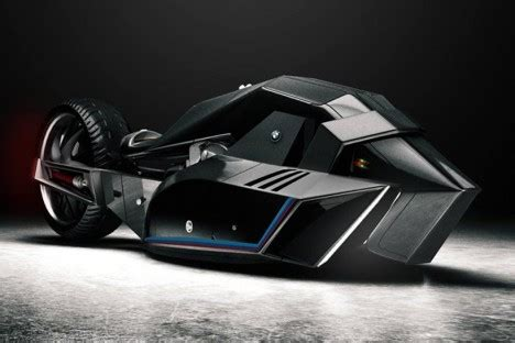 straight out of the batcave: bmw titan motorcycle design