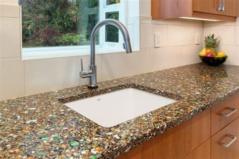 recycled kitchen countertops how to make a recycled glass countertop best home design