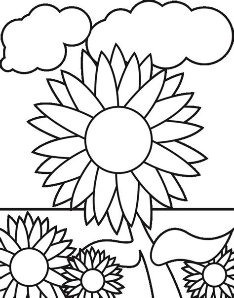 sunflower garden coloring page sunflower garden coloring page download print online