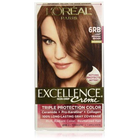 6rb hair color l oreal excellence creme protection hair color