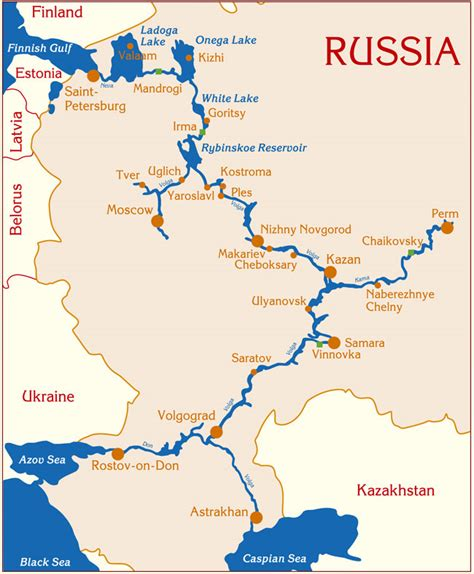 russia map river river cruises in russia moscow st petersburg volga don