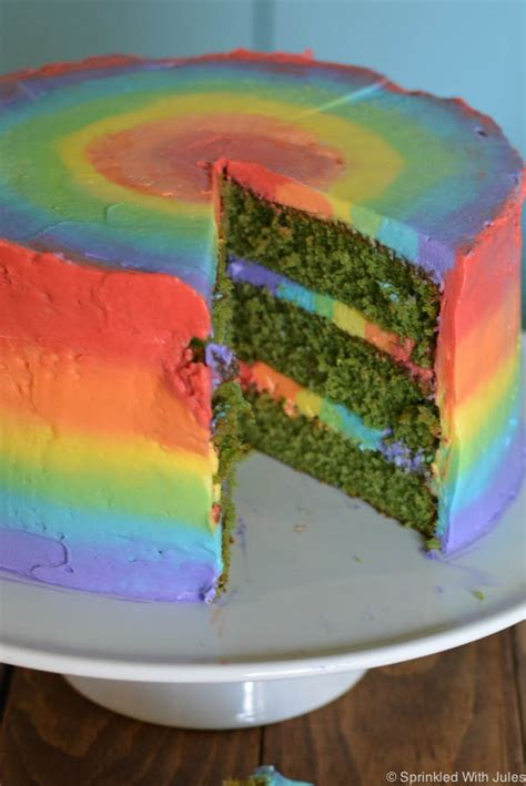 icing room rainbow cake rainbow green velvet cake sprinkled with jules