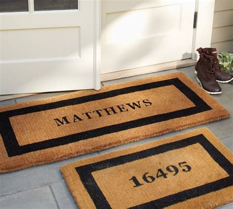 Personalized Doormats by Personalized Doormat Pottery Barn
