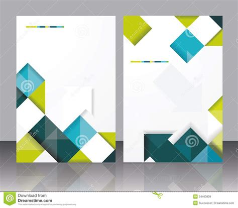 vector brochure template design with cubes and arrows
