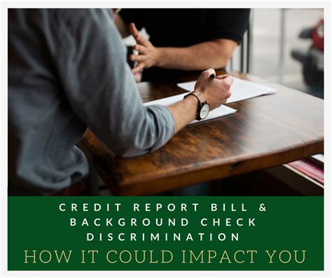 Credit Report Background Check Credit Report Bill And Background Check Discrimination How It Could Impact You
