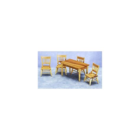oak kitchen table set dollhouse oak kitchen table chairs set miniature
