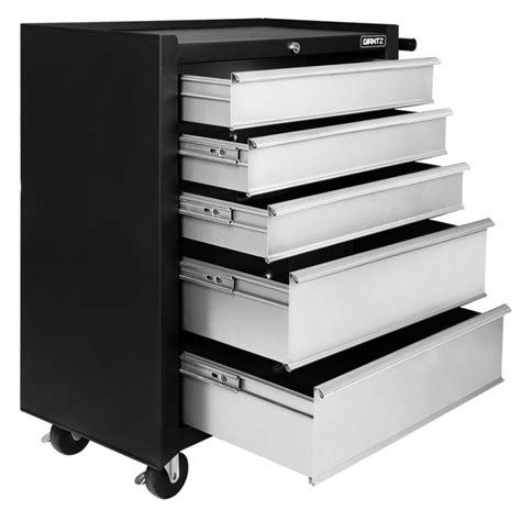 trojan tool chest and cabinet set black grey 5 drawers roller toolbox cabinet matte buy