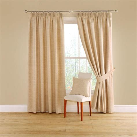 montgomery curtains buy montgomery totem natural lined pencil pleat curtains