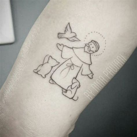 st francis tattoo 1000 ideas about on back