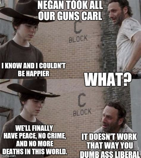 The Walking Dead Carl Meme - the walking dead memes carl and rick www imgkid com