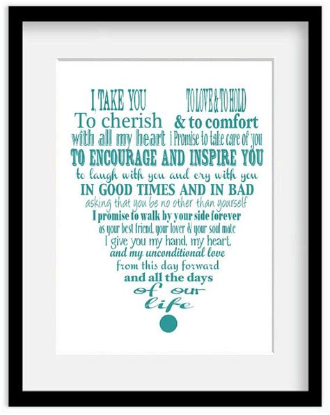 Wedding Vows Modern by Personalized Wedding Vows Modern Typography Giclee