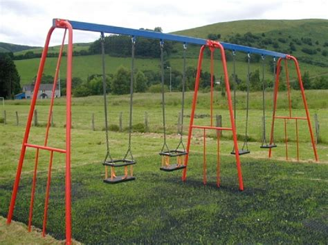 british swinging outdoor play south west steel swings with 4 seats