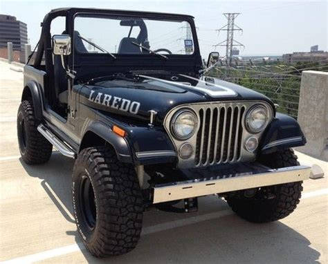 Used Black Jeep Sell Used Classic 1984 Black Jeep Cj 7 Laredo 6 Cyl 4x4