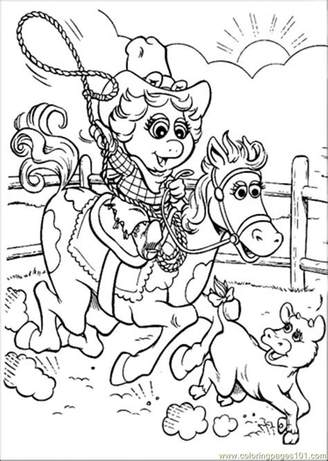 coloring pages that baby is riding a horse cartoons