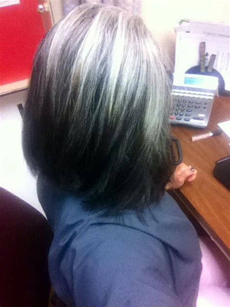 how to grow in gray hair with highlights growing out my silver 1year later gray pinterest