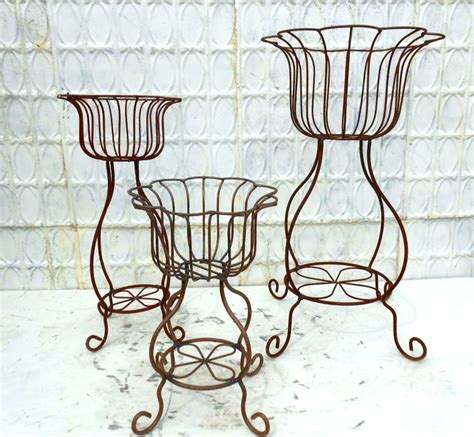 Wrought Iron Planters Plant Stands by Wrought Iron Sally Plant Stand Flower Planter