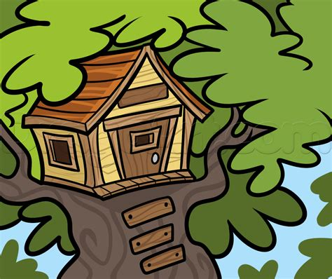 doodle drawer how to draw a treehouse step by step buildings