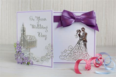 Papercraft Wedding - how to make a die cut wedding card hobbycraft