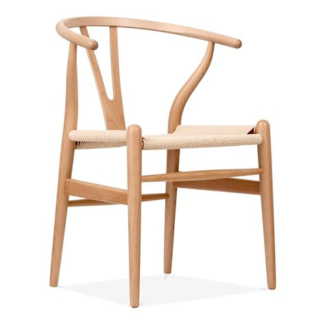Century Dining Room Furniture by Hans Wegner Style Wishbone Chair In Natural Wood Cult