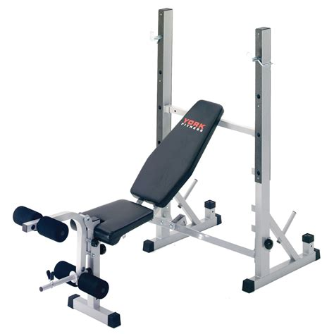 bench with weights york b540 weight bench with 50kg barbell dumbbell set