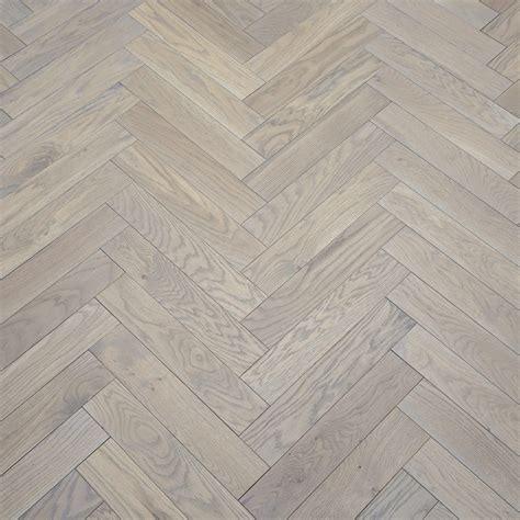 Park Avenue Herringbone Silk Grey Oak Solid Wood Flooring