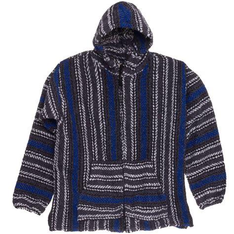 Monez Top Woven Surfer baja joe striped woven jacket coat poncho jamaican jerga