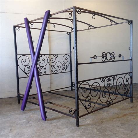 dungeon beds custom scroll bed with removable cross stockade