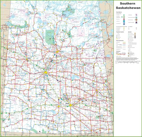map of south canada map of southern saskatchewan