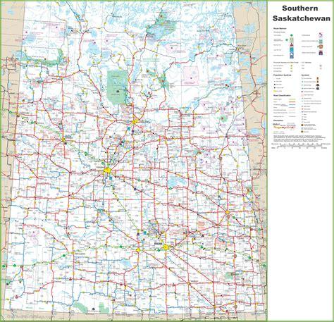 printable road maps of alberta map of southern saskatchewan