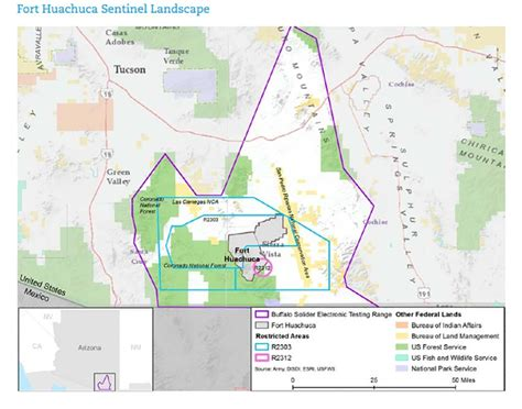 fort huachuca map fort huachuca plans buffer against development
