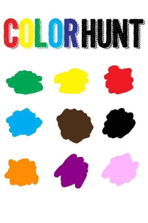 color hunt free color scavenger hunt printable summer school