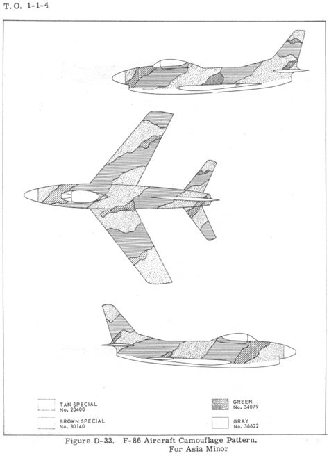 american f 86d sabre southwest asia camouflage color profile and paint guide