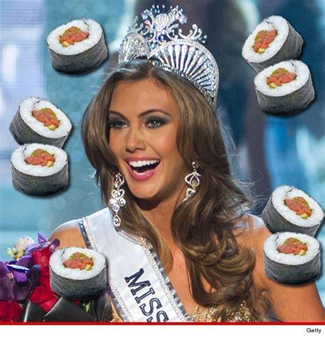 Miss Usa Eats It by Miss Usa Erin Brady Gets Fishy After Winning Crown
