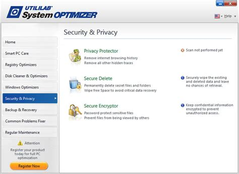 section security utililab system optimizer review