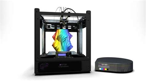 3d color printer something3d s color st3d chameleon 3d printer is on