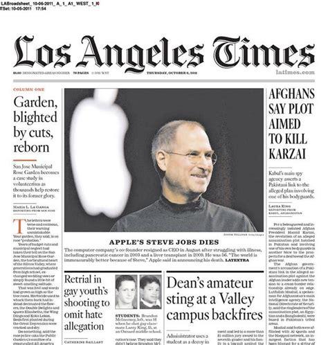 newspaper front pages honor steve slide 2