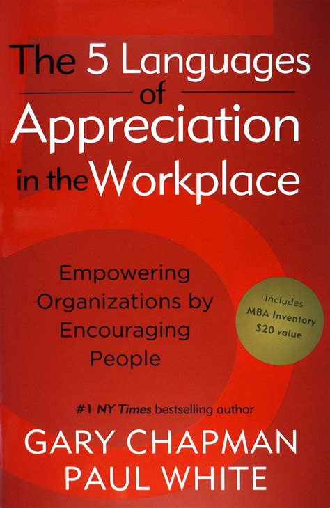 The 5 Languages Of Appreciation In The Workplace Mba Inventory 5 languages of appreciation in the workplace cherry hill