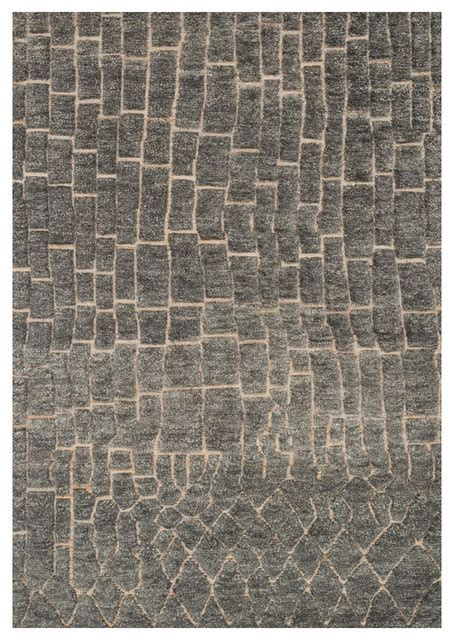 Industrial Area Rugs Renna Industrial Slate Gray Path Wool Jute Rug 4x6 Reviews Houzz