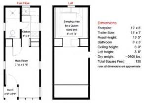 Typical House Floor Plan Dimensions 130 Sf Fencl Tiny House And How To Build Your Own