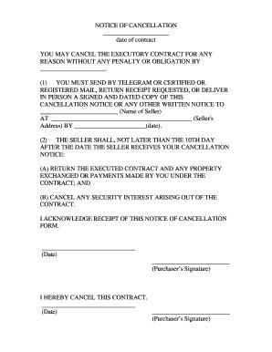 buying a house contract for deed contract cancellation letter forms and templates fillable printable sles for