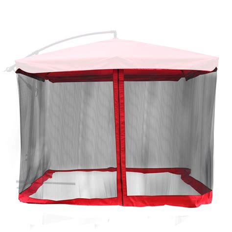 Patio Umbrella Mosquito Net 9 X9 Mosquito Netting Bug Mesh Net For Outdoor Patio Offset Umbrella Gazebo Top Ebay