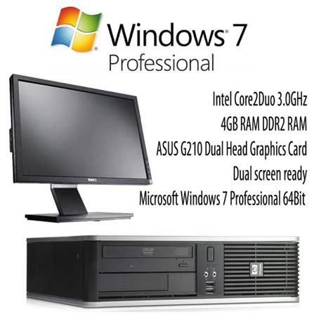 Dell Dc7900 Core2duo buy hp dc7900 core2duo 3 0ghz 4gb 160gb dvd sff win7pro pc