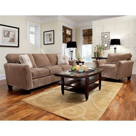 Broyhill Living Room Furniture Sets Broyhill Maddie 2 Microfiber Sofa Set In Mocha 6517 3q 6517 0q Set