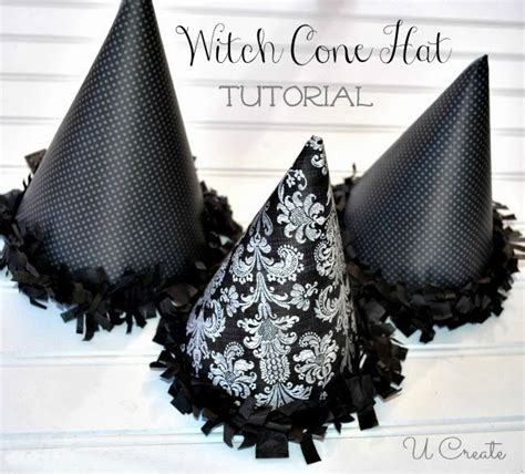 party favor witch hat cones  template  create