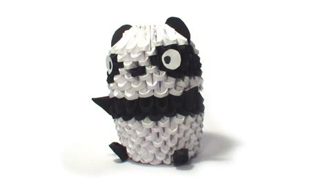 how to make a 3d origami panda 3d origami small panda tutorial