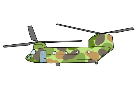How To Make A Paper Army Helicopter - how to draw a war helicopter step by step www pixshark